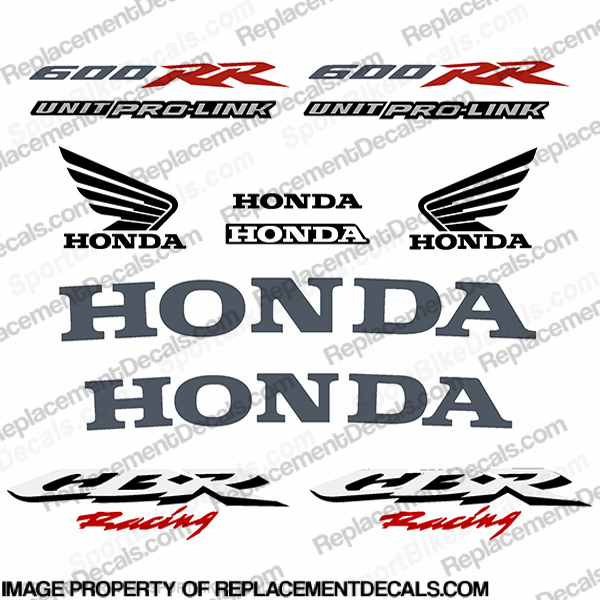 600RR 07-08 Full Factory Replica Decal Kit - Silver