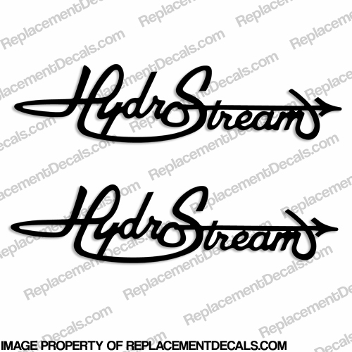 HydroStream Boat Logo Decals (Set of 2) - Any Color!