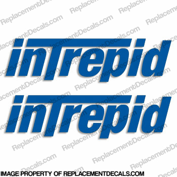 Intrepid Boats Logo Decal (Set of 2) - Any Color!