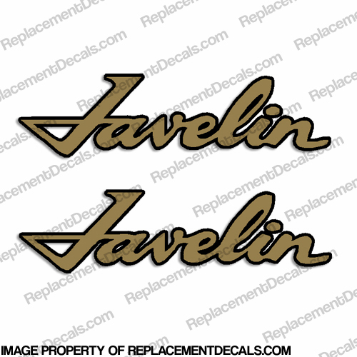 Javelin AMC Boat Decals (Set of 2) - 2 Color / Any Color!