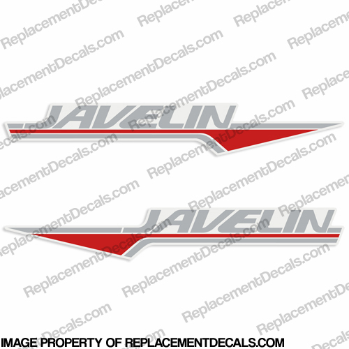 Javelin Boat Decals (Set of 2) - 2 Color!