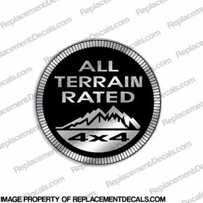 "Jeep ""All Terrain Rated 4x4"" Decal"