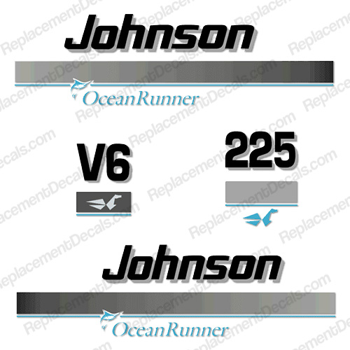 Johnson 225hp OceanRunner Decals ocean runner, ocean-runner