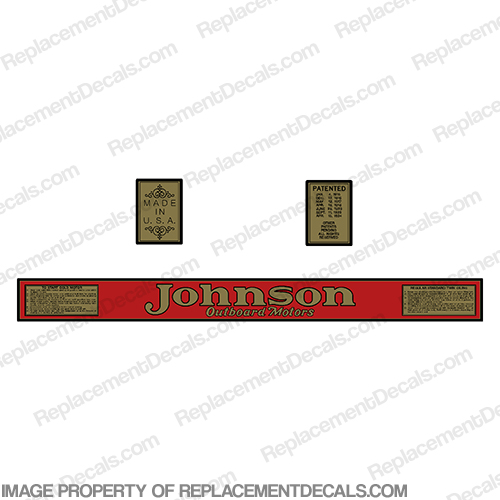 Johnson 1928 13hp P-40 Decals