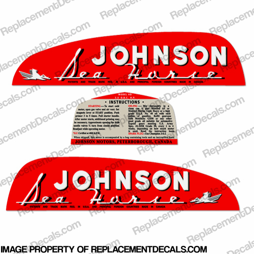 Johnson 1949 2.5hp Decals