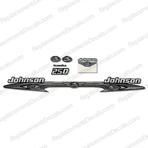 Johnson 250hp OceanPro Decals - Wrap Around ocean, pro, ocean pro, ocean-pro