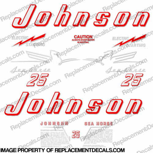 Johnson 1954 25hp - Electric Decals