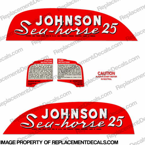 Johnson 1951 25hp Decals - Style B