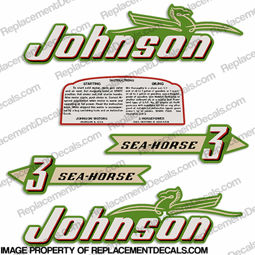 Johnson 1952 3hp Decals - Style B