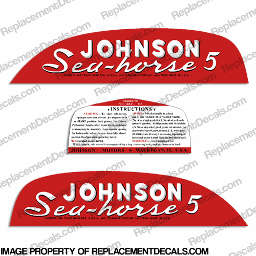 Johnson 1951 5hp Decals