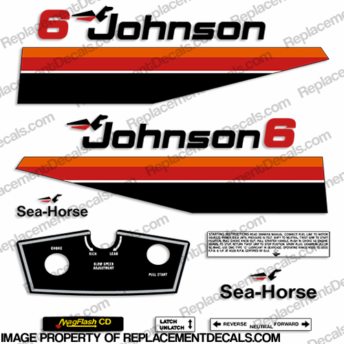 Johnson 1979 6hp decals for Custom outboard motor decals