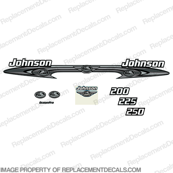 Johnson 200-250 OceanPro Decals - Wrap Around ocean, pro, ocean pro, ocean-pro, 200. 225. 250