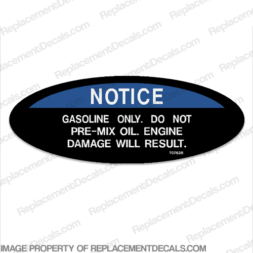 Warning Decal - Gasoline Only