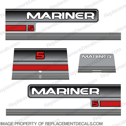 Mariner 5hp Decal Kit - 1995+