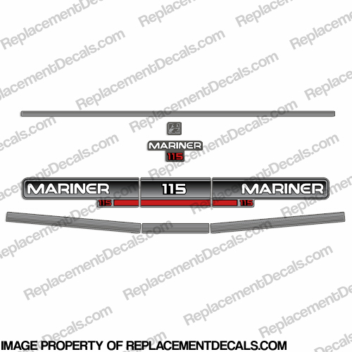 Mariner 1994 115hp Decal Kit