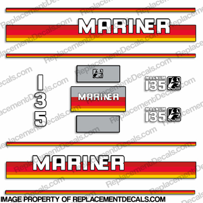 Mariner 135hp Decal Kit - 1990s