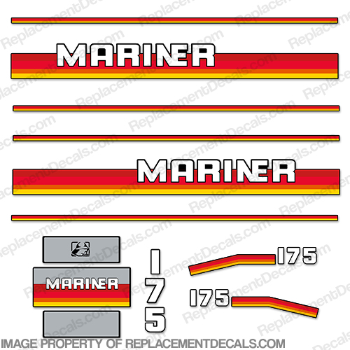 Mariner 175hp Decal Kit - 1990s