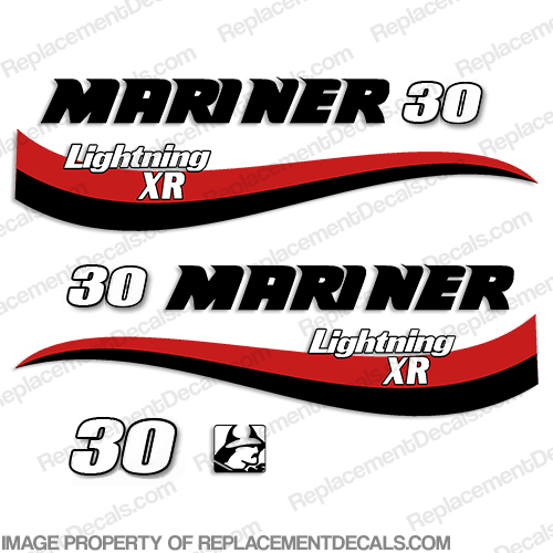 Mariner 30hp Lightning XR Decal Kit