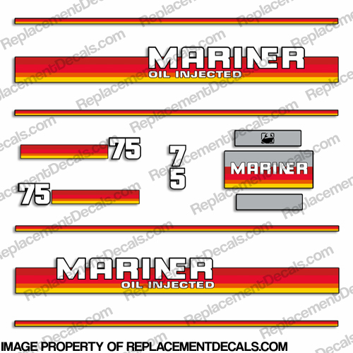 Mariner 1984 - 1990 75hp Decal Kit