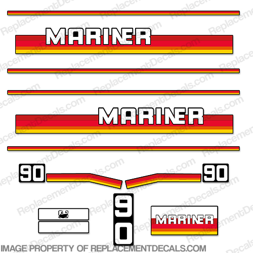 Mariner 90hp Decal Kit