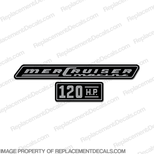 Mercruiser 120hp Decals - 1970