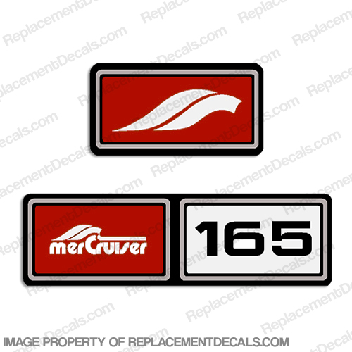 Mercruiser 1982-1989 165hp Valve Cover Decals  - Red