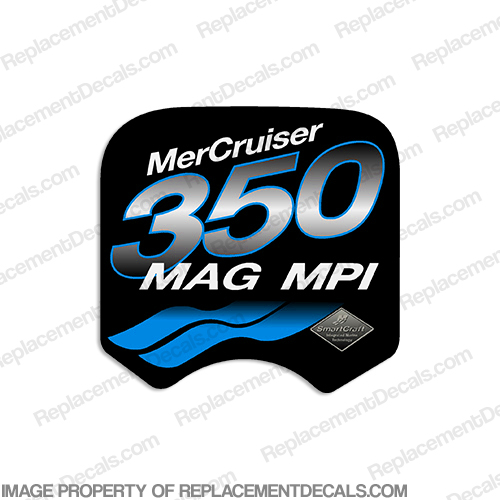 Mercruiser 350 Mag MPi Decal (Blue)