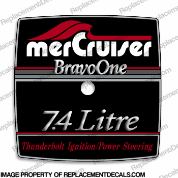 Mercruiser 7.4 Litre Bravo One Flame Arrestor Decal