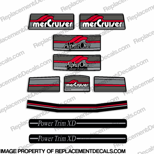 Mercruiser 1982-1995 Alpha One Decals