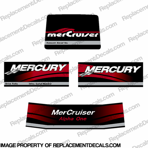 Mercruiser 2004 Alpha One Decals