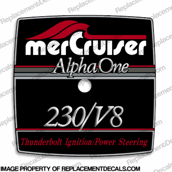 Mercruiser 230/V8 Alpha One Flame Arrestor Decal