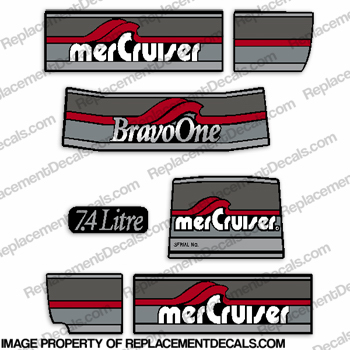 Mercruiser 1986-1998 Bravo One Decals