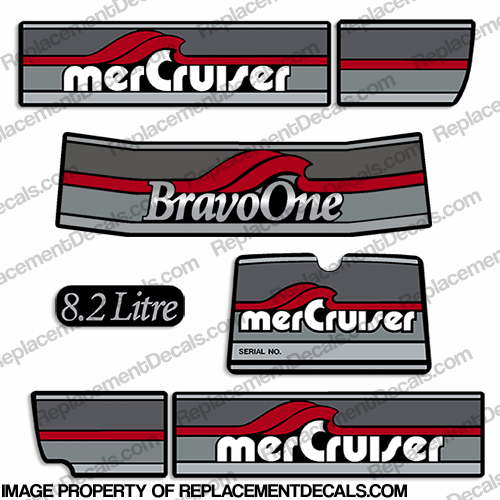 Mercruiser 1986-1998 8.2 Litre Bravo One Decals