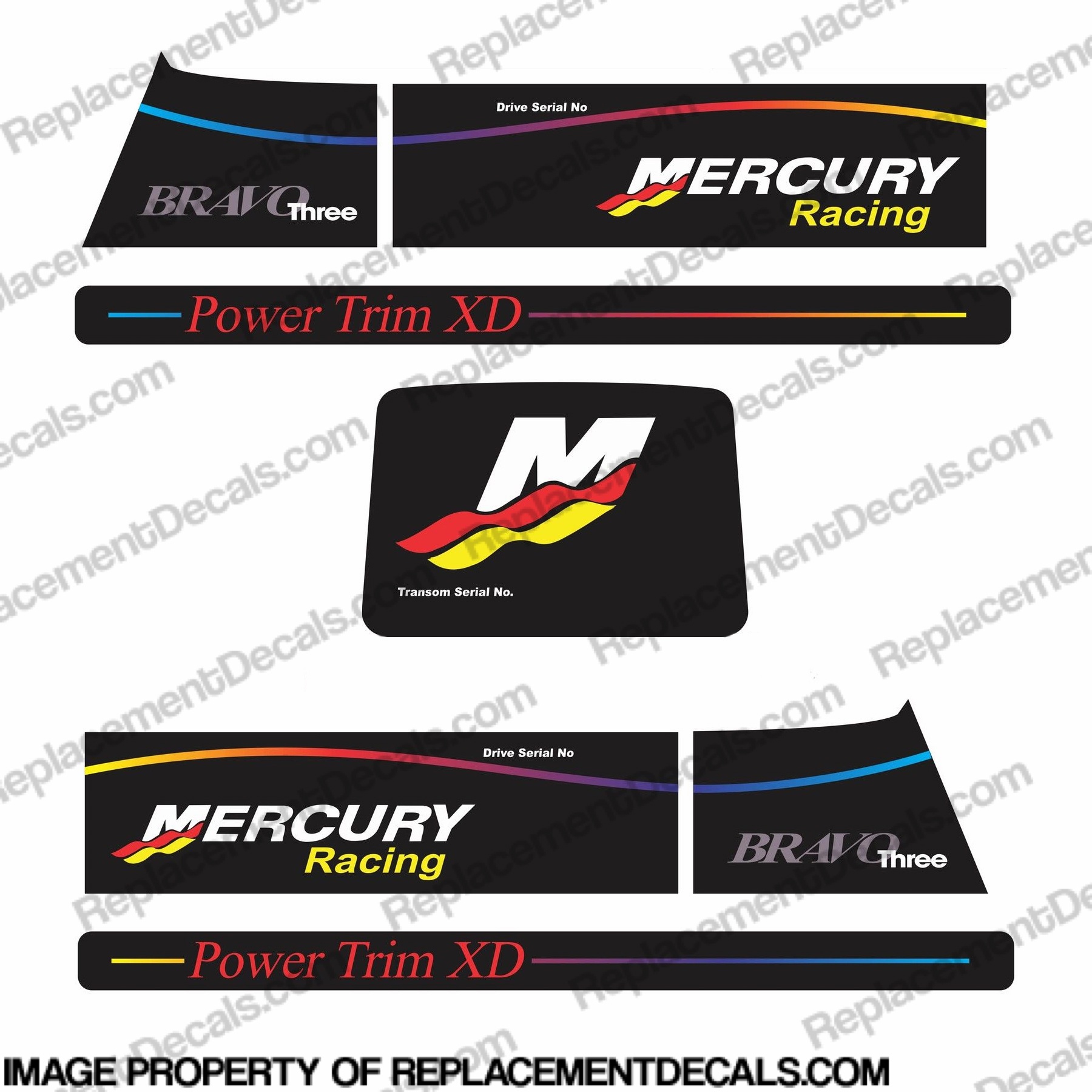 Mercruiser Bravo Three Racing Decals