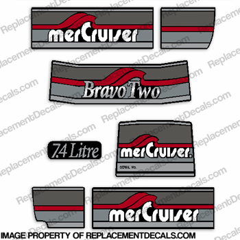 Mercruiser 1986-1998 Bravo Two Decal kit