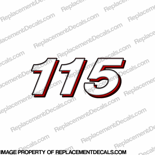Mercury 115 Decal - 2006 Style