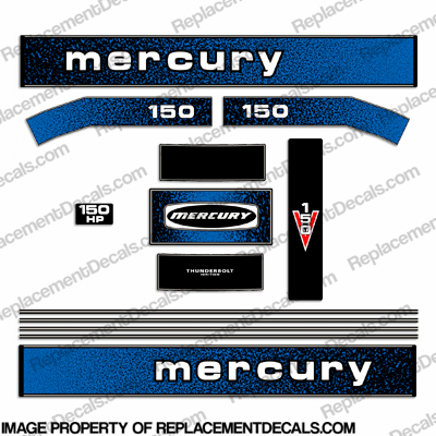Mercury 1979 150hp outboard engine decals for Custom outboard motor decals