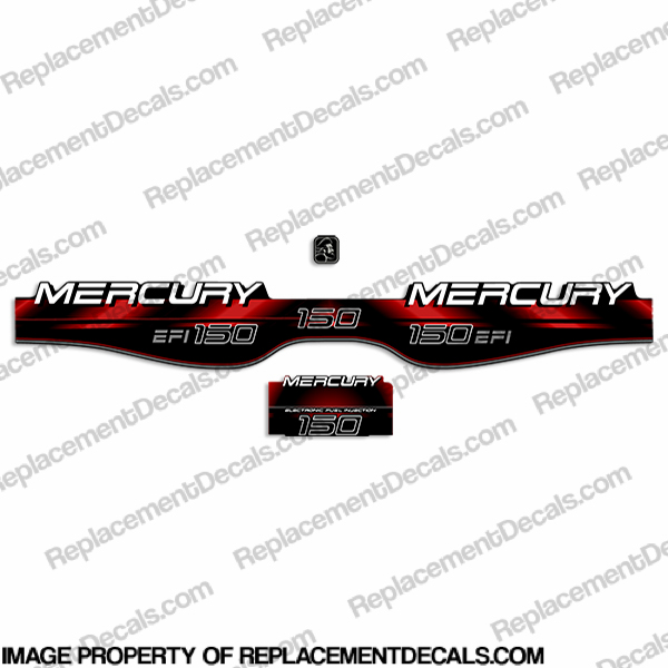 Mercury 150hp EFI Decals - 1994 - 1998 (Red)