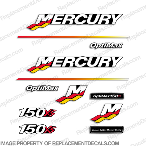 Mercury 150XS Racing Decal Kit - 2003 - 2004