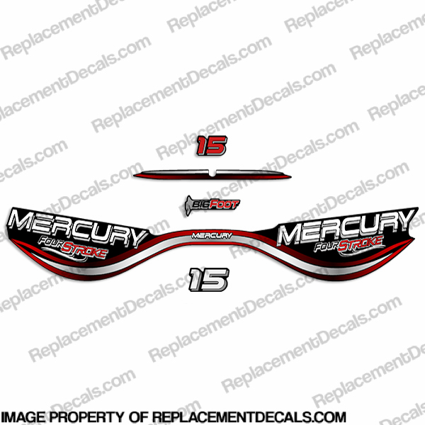 Mercury 15hp FourStroke BigFoot Decal Kit - 1999