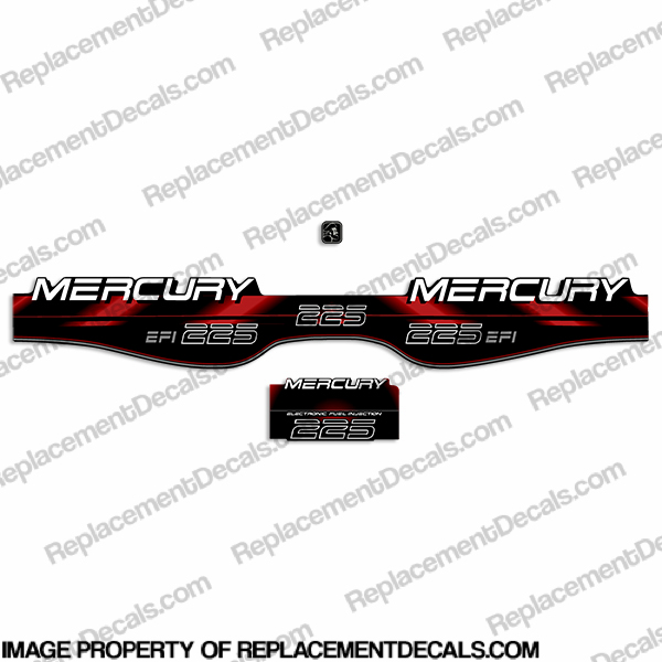 mercury 225hp efi decals - 1994