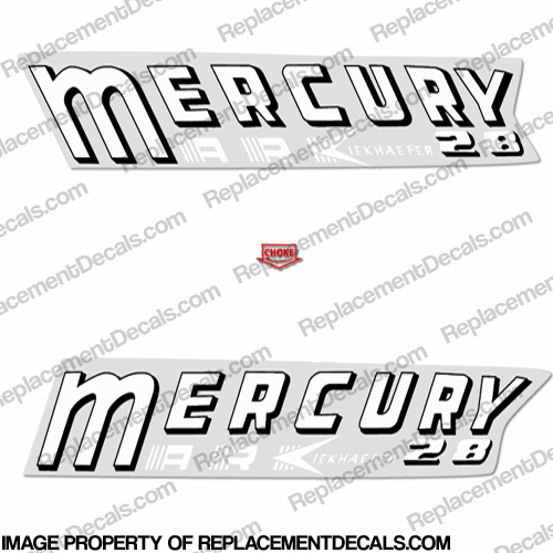 Mercury 1958 22HP Mark 28 Decal Kit