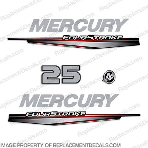 Mercury 25hp FourStroke Decals - 2013+