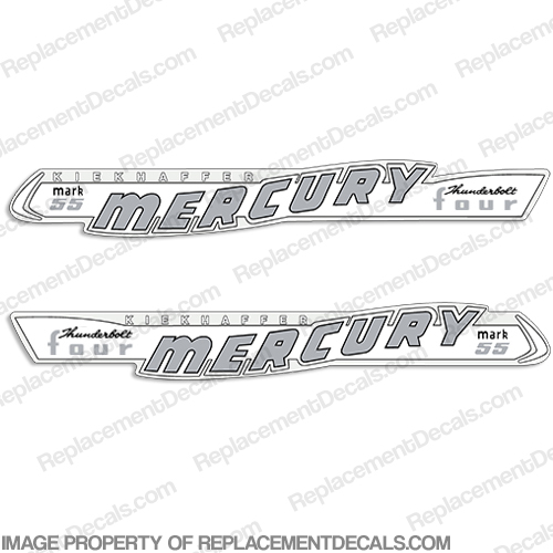Mercury 1957 40HP Mark 55 Decals