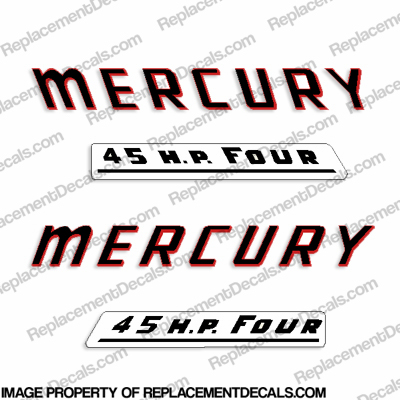 Mercury 1961 45HP Outboard Engine Decals