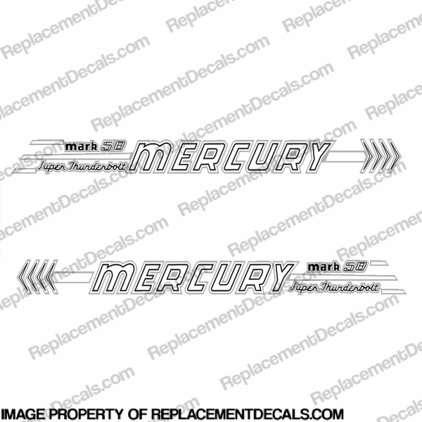 Mercury 1958 45HP Mark 58 Decal Kit