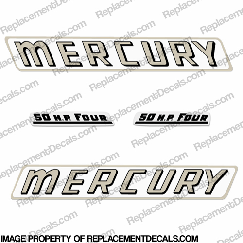 Mercury 1961 50HP Outboard Engine Decals