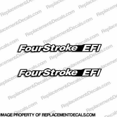Mercury &#39FourStroke EFI&#39 Decals (Set of 2)