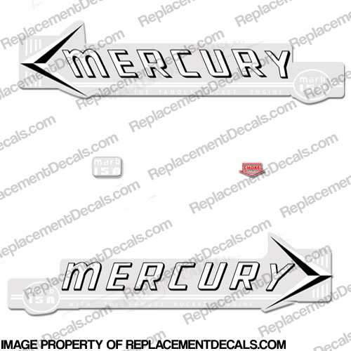 Mercury 1959 Mark 15A MK6A White Decals