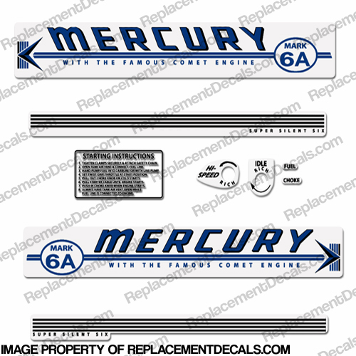 Mercury 1959 Mark 6A Blue Decals